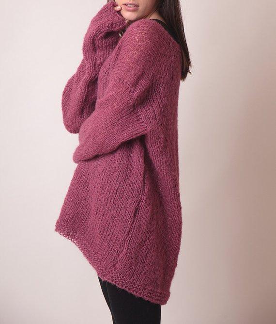 Pulover lung violet