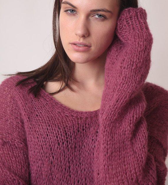 Pulover femei lung violet