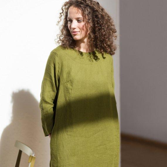 Rochie de in minimalista verde