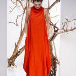 Rochie maxi portocalie